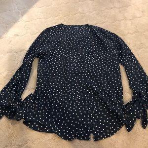 Madewell star print blouse